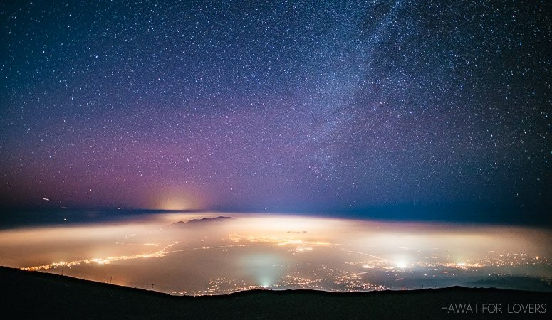 the stars above and maui below