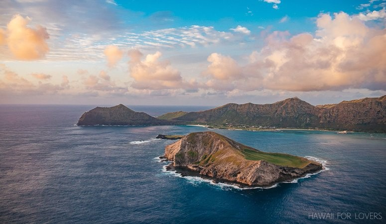 rabbit island and makapu'u point from the air