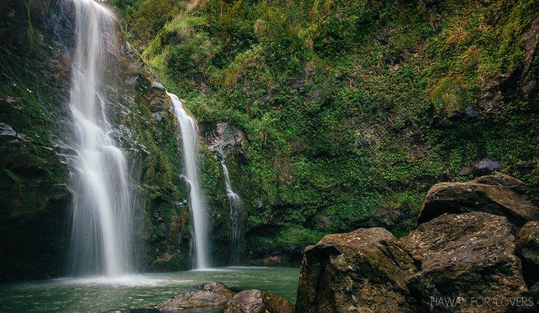 the three falls of Waikani Falls