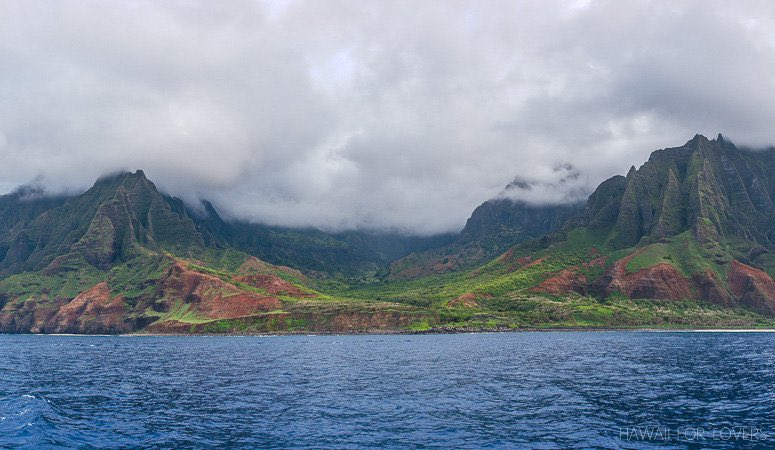 looking back at the na pali coast